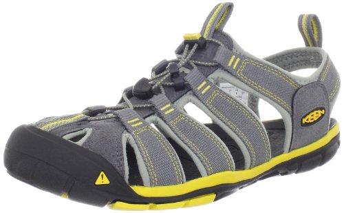 Keen - Clearwater CNX, Trekking sandali e scarpe da trekking uomo, color Grigio (Gargoyle/Super Lemon), talla 44