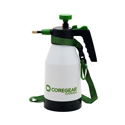 CoreGear Garden - USA Misters 1.5 Liter Handheld Pump Pressure Indoor Outdoor Plant Mister and Sprayer with Carrying Strap and Belt Clip (High Pressure Tree Sprayer compare prices)
