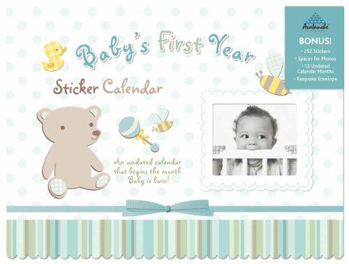 Baby First Year - Boy Sticker Calendar 12