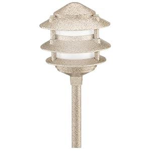 Click to buy Malibu Outdoor Lighting: Malibu Cast Metal Tier Light, Sand Finish from Amazon!