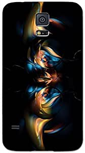 Timpax protective Armor Hard Bumper Back Case Cover. Multicolor printed on 3 Dimensional case with latest & finest graphic design art. Compatible with only Samsung Galaxy S-5. Design No :TDZ-20083