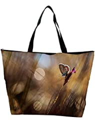 Snoogg Abstract Butterfly Designer Waterproof Bag Made Of High Strength Nylon - B01I1KJ25Y