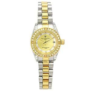 [アイザックバレンチノ]Izax Valentino 腕時計 アナログ表示 日付表示 曜日表示 ゴールド IVL-1000-3 レディース