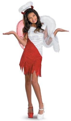 Disguise Sassy Scene Heavenly Devil Deluxe Tween Costume, 10-12 front-1023674