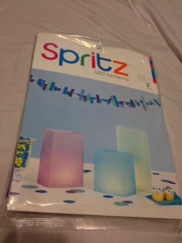 Spritz Led Lanterns, 3 Count