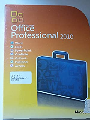 Microsoft Office Professional 2010 Version for Windows 32/64-bit - 1 PC