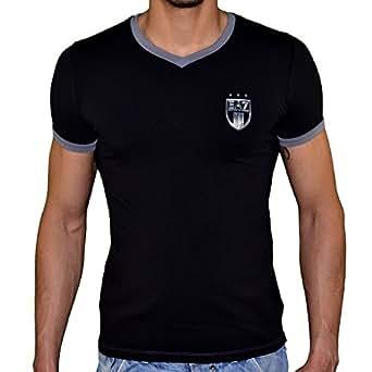 Ea7 Emporio Armani - Tee Shirt Manches Courtes - Homme - Train Soccer 273595 Col V - Noir - XL