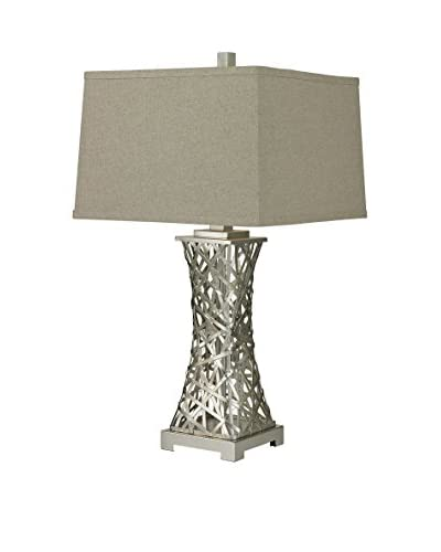 Artistic Lighting 1-Light Table Lamp, Silver Leaf