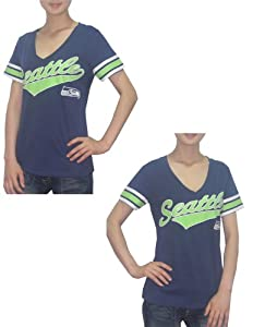 NFL Seattle Seahawks Ladies Athletic V-Neck Short Sleeve T Shirt by MLB
