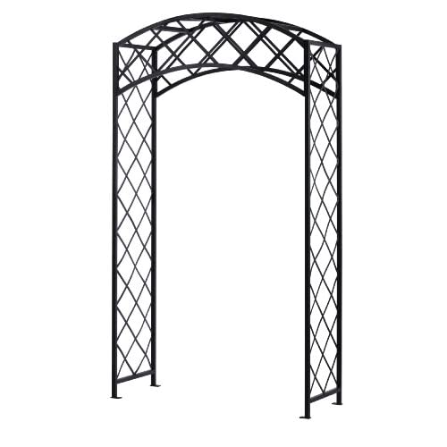 Panacea Products Arched Lattice Arbor, Black