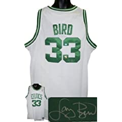 Larry Bird Autographed Hand Signed Boston Celtics White Authentic Adidas Swingman... by Hall of Fame Memorabilia