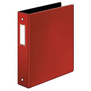 Cardinal Premier Easy Open Locking Round Ring Binder, 1.5-Inch, with Label Holder, Red (18828)