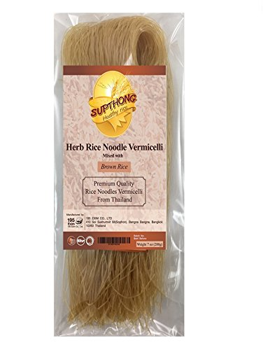Supthong Thai Herb Rice Noodle Vermicelli - Brown Rice (7 Oz.) (Cuisines Popcorn Maker compare prices)