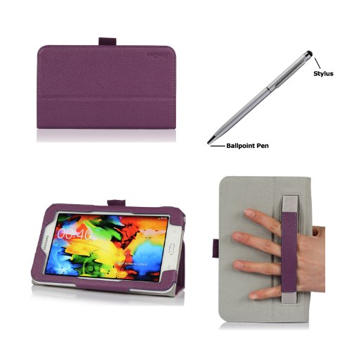 ProCase Samsung Galaxy Tab 3 Lite 7 Tablet Case with bonus stylus pen - Flip Stand Cover Case for Tab 3 Lite 7.0 inch, SM-T110 (Purple)