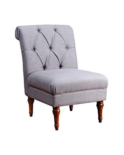 Abbyson Living Sienna Tufted Slipper Chair, Grey