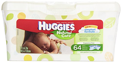 Huggies Natural Care Fragrance Free Baby Wipes Tub, 64 ct - 1