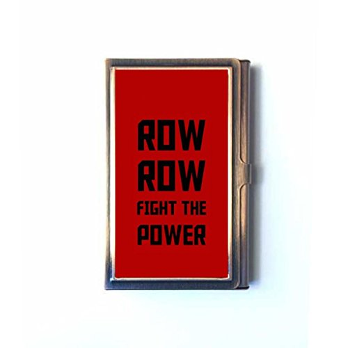 Row Row Fight The Power Custom Design Classic Copper Stainless Steel Business Card Holder Credit Card Holder Case (Row Row Fight The Power compare prices)