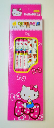 Set of 5 Hello Kitty School Supplies Pencil- Pink