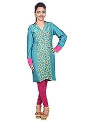 Aavran Women's Viscose Regular Fit Kurta - B015J5BA54