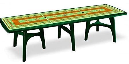 Président Extension mosaïque Table à manger rectangulaire en plastique