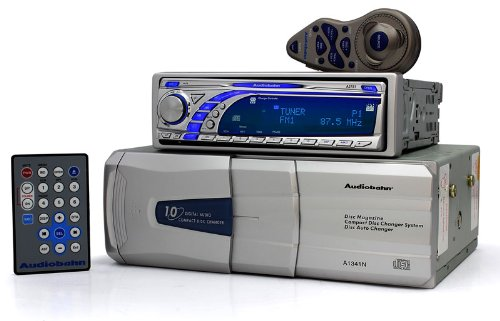 A3751 + A1341N - Audiobahn Car Cd/Mp3 Player & 10 Disc Cd Changer Package (Allows For Us And European Tuning)