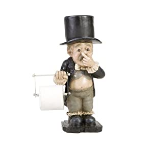 Sei poly resin bathroom tissue holder butler for Bathroom butler toilet paper holder