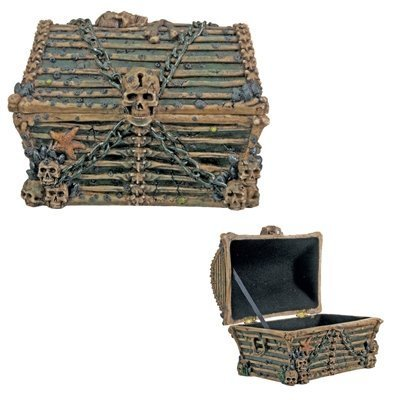 Davy Jones Chest  Collectible Pirate Decoration Skeleton Container (Pirate Containers compare prices)