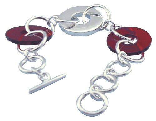 Tianguis Jackson Sterling Silver Acrylic Bracelet 22cm