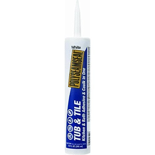 Loctite 1515187 Polyseamseal Tub and Tile Adhesive Caulk, 10-Ounce Cartridge, White by Loctite (English Manual)