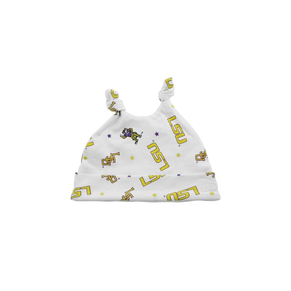 c0551e76d0d43 NCAA New Era LSU Tigers Infant White Knit Baby Beanie on PopScreen
