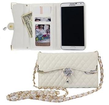 【クリックでお店のこの商品のページへ】Bellebo (ベルボ) iphone6 / 6 plus バッグ 風 デコ 手帳 型 キルティング ケース カバー アイフォン 03 iphone6 ホワイト: 家電・カメラ