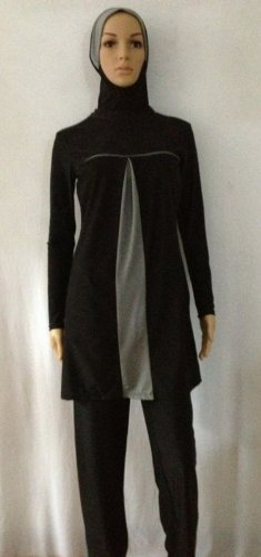 9b8a6127babbb Now the price for click the link below to check it. Full Cover Black Gray Islamic  Muslim Modest Beachwear 2 piece Swimsuit SizesS XXL XL.