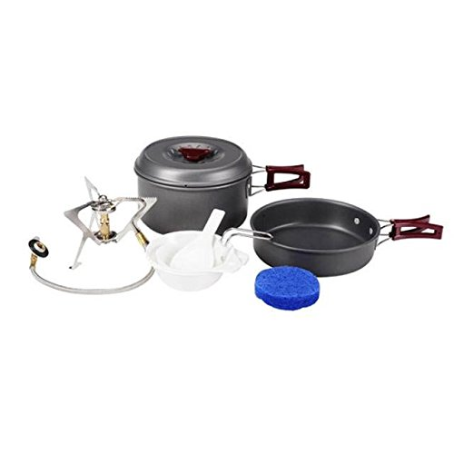 2 Person Camping Cooking Pot Camping Cookware Outdoor Pots Sets Camping Stove front-366551