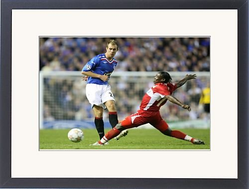 Framed Prints of Soccer - Champions League - Rangers v VfB Stuttgart - Group E- Ibrox from Rangers