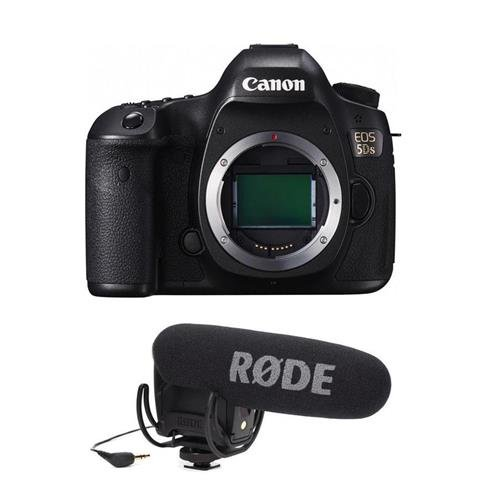 Canon-5DS-DSLR-Camera-Body-506MP-32-LCD-Display-with-Rode-Microphones-VideoMic-Pro-R-Cardioid-Condenser-Microphone