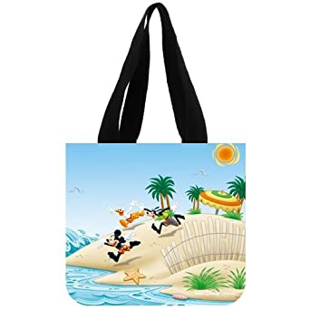 Disney Classic Cartoon Characters Mickey Mouse and Donald Duck Custom Tote Bag 02