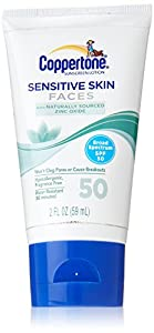 Coppertone Sensitive Skin Faces SPF 50, 2oz