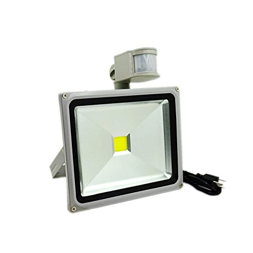 GLW 30W LED Motion Sensor Light, PIR Flood Light 6000k Cool White, Outdoor Waterproof Exterior Lamp with (Exterior Lamps)