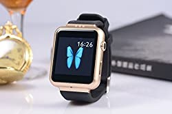 General AUX Smart Wrist Watch Touch Screen with Sim Card Slot (Black, Rose Gold)
