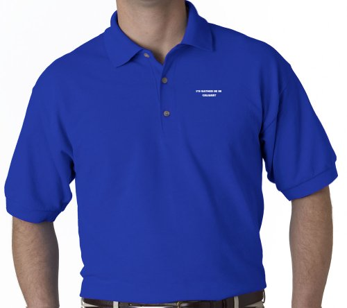 I'D Rather Be In Calgary City Nationality Sports Golf Embroidered Embroidery Polo Shirt Royal Blue S