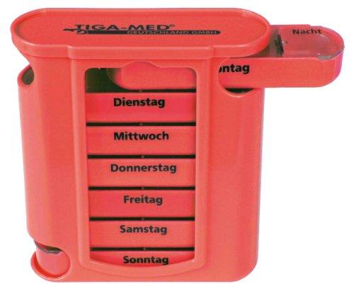Pilulier 7 jours de qualité Tiga-Med (Rouge)