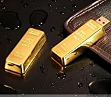 USB Memory Stick / Flash Drive 2.0 4 GB Gold Bar Design
