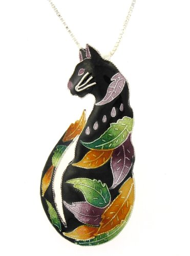 Time To Leave Cat Pendant & Pin w/ Necklace by Zarah