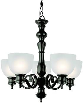 Bel Air Lighting 5 Light Oiled Bronze Chandelier