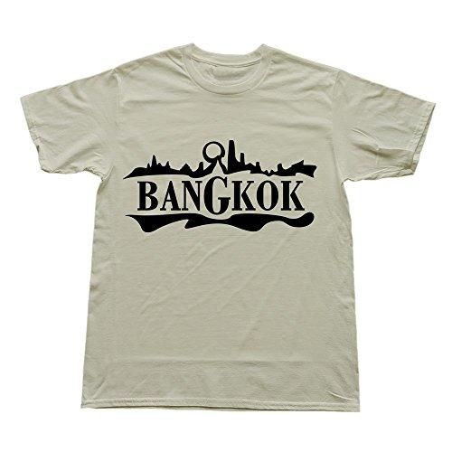 Hoxsin Natural Men'S Bangkok Funny Short Sleeve T-Shirts Us Size S