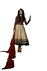 Kamakshi Womens Silk Self Print Anarkali Salwar Suit (Koina_Xxl)