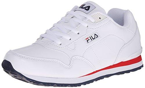 Fila Women's Cress Running Shoe, White/Fila Navy/Fila Red, 9 M US
