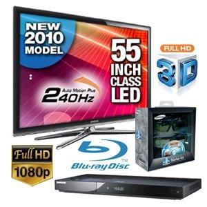 Samsung UN55C7000 3D LED TV, BDC6900 3D Blu-ray Player & SSGP2100T 3D StarterKit