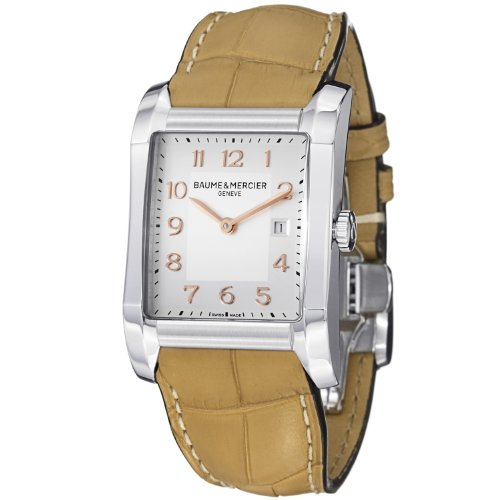Baume & Mercier Hampton Ladies Sand Brown Leather Strap Watch 10081