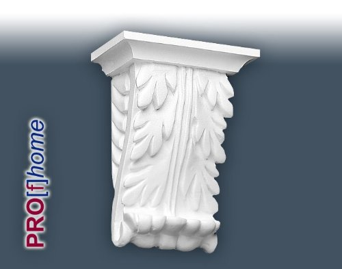 B401 Corbel. A discrete corbel featuring the classic acanthus leaf pattern. Ideally suited as an internal decoration to either side of a door header, or pediment. Each B.401 is approximately 5 inches wide x 6 inches high and nearly 3 inches in projection.